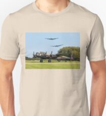 Three Lancasters at East Kirkby Unisex T-Shirt