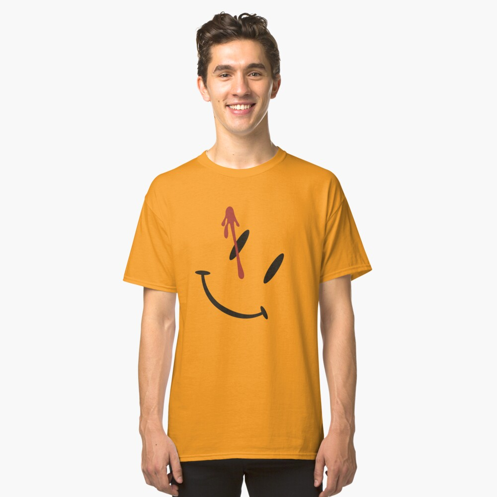 Watchmen Button Design Classic T-Shirt Front