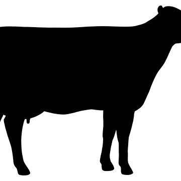 Holstein Cow Silhouette(s) by ShortCoffee