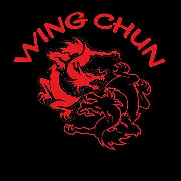 wing chun kung fu dragon by DeLaFont