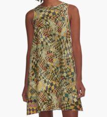A Twist On Plaid A-Line Dress