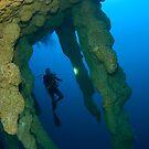 Blue Hole, Belize by Carlos Villoch