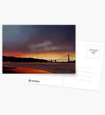 Golden Gate Sunset Postcards