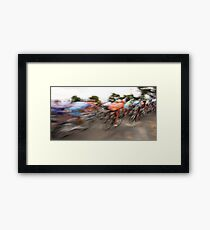 Past in a blur of colour Framed Print