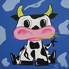 """cow"" Part of my Kids art Series by Taniakay"