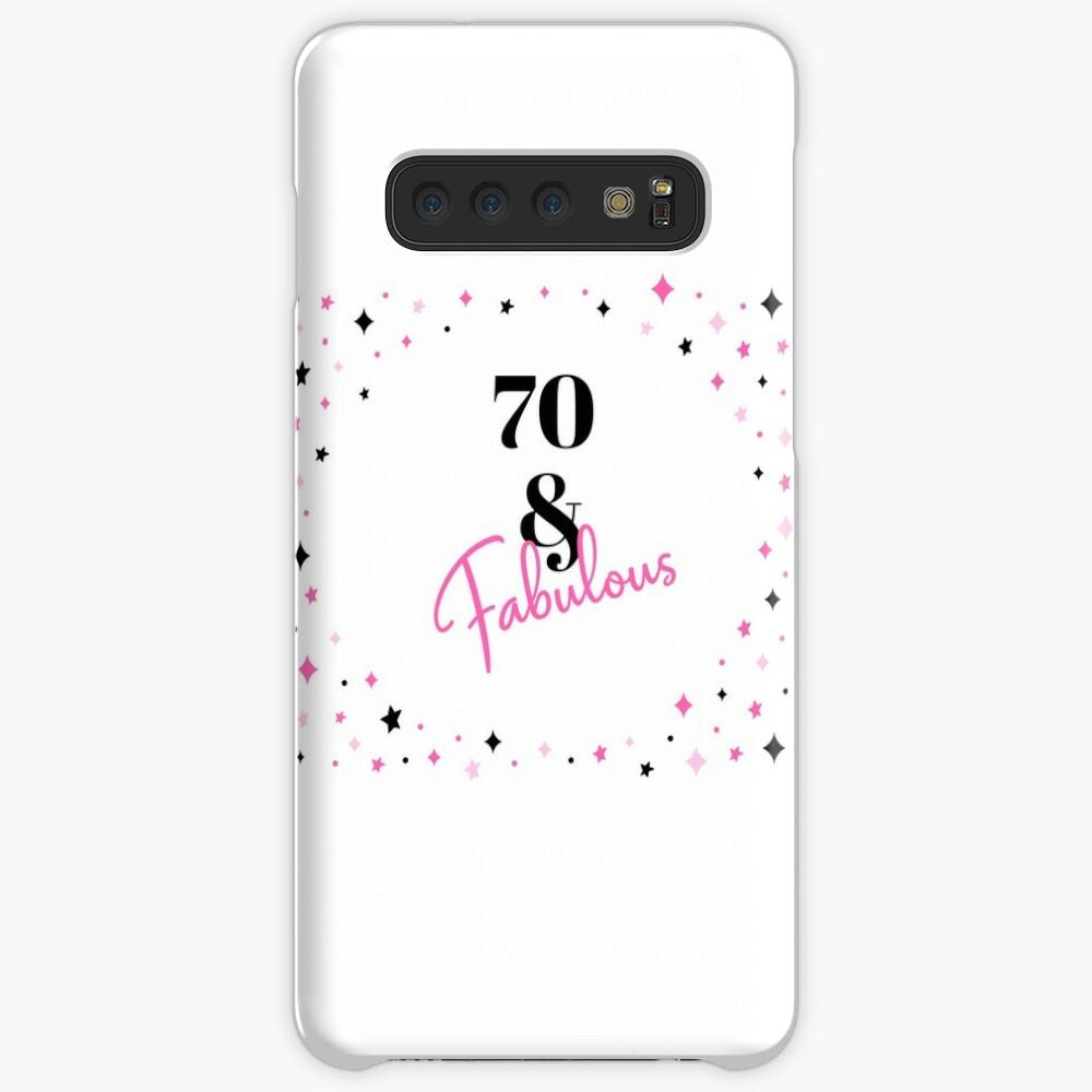 70 und fabelhafter 70. Geburtstagsgeschenk für fabelhafte Siebzigjährige Hülle & Klebefolie für Samsung Galaxy
