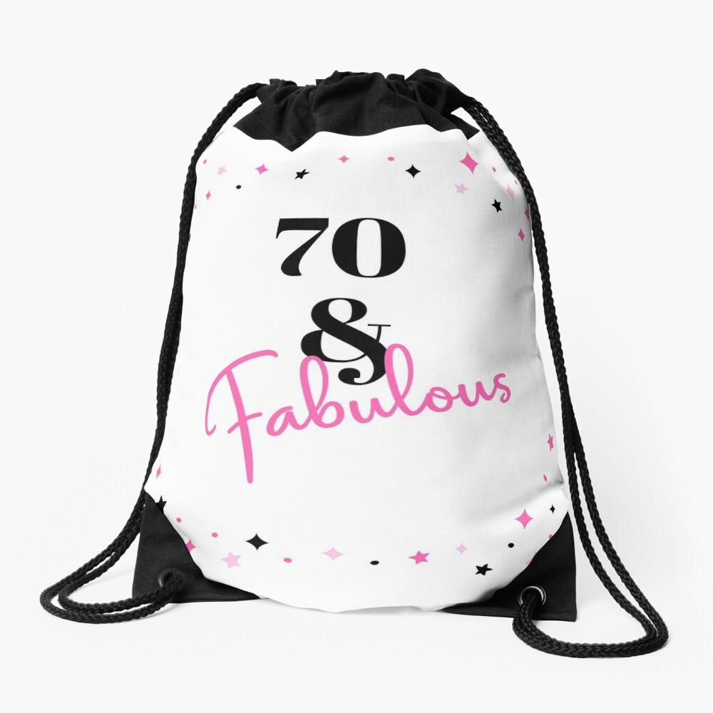 70 und fabelhafter 70. Geburtstagsgeschenk für fabelhafte Siebzigjährige Turnbeutel