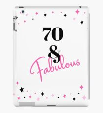 Vinilo o funda para iPad 70 y fabuloso 70.º regalo de cumpleaños para los fabulosos setenta años