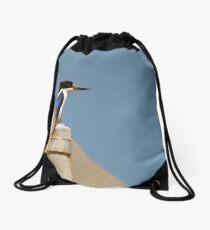 Forest Kingfisher Drawstring Bag