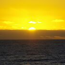 sunset on the beach by gillyisme53
