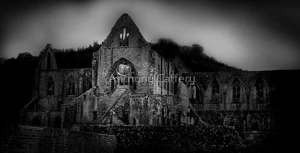 Tintern Abbey in the Wye Valley by Anthony Caffery