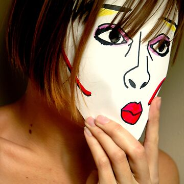 Self Portrait in Mask by JennyArtist