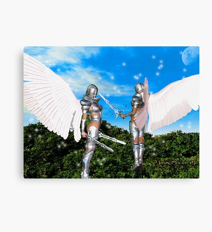 Armored Guardians of the Promise Land Canvas Print