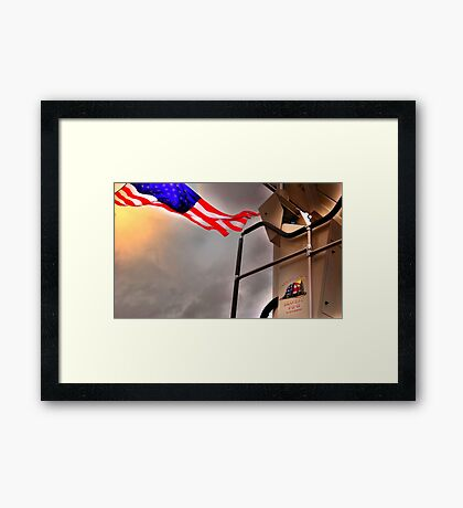 To Fallen Heros-Old Glory Framed Print