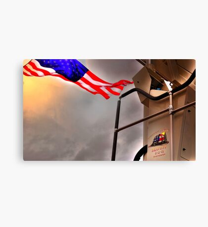 To Fallen Heros-Old Glory Canvas Print