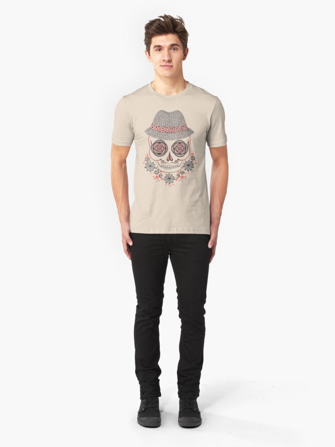 Alternate view of Dapper Skull Slim Fit T-Shirt