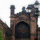 Chester, UK, lamps in front of cathedral by BronReid