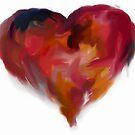 Heart Swirl (digital Painting) by SJohnsonartist