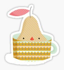 pear in a cup Sticker