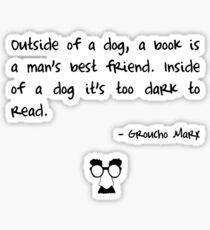 Groucho on books Sticker
