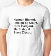 Bill Murray Wes Anderson Characters T-Shirt