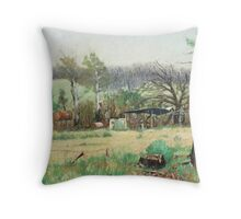 Marysville after the fires Throw Pillow