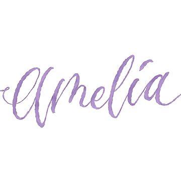 Custom Hand Lettering Amelia Name Design by cheesim