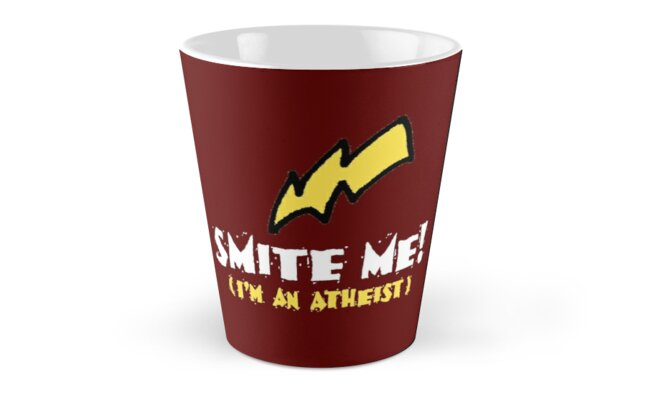 SMITE ME! I'm an atheist! (Dark backgrounds) by atheistcards