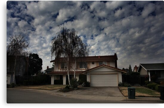Suburban Clouds by Laurie Search