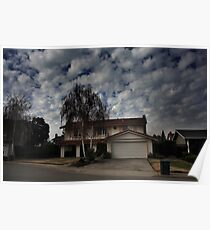 Suburban Clouds Poster