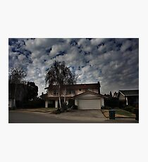 Suburban Clouds Photographic Print