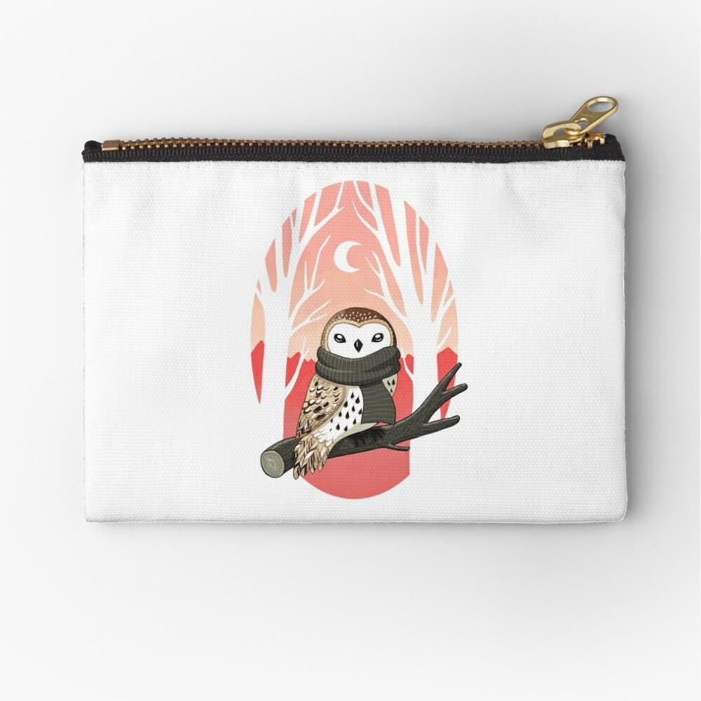 Winter Owl Zipper Pouch