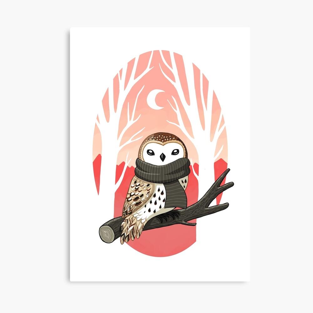Winter Owl Canvas Print