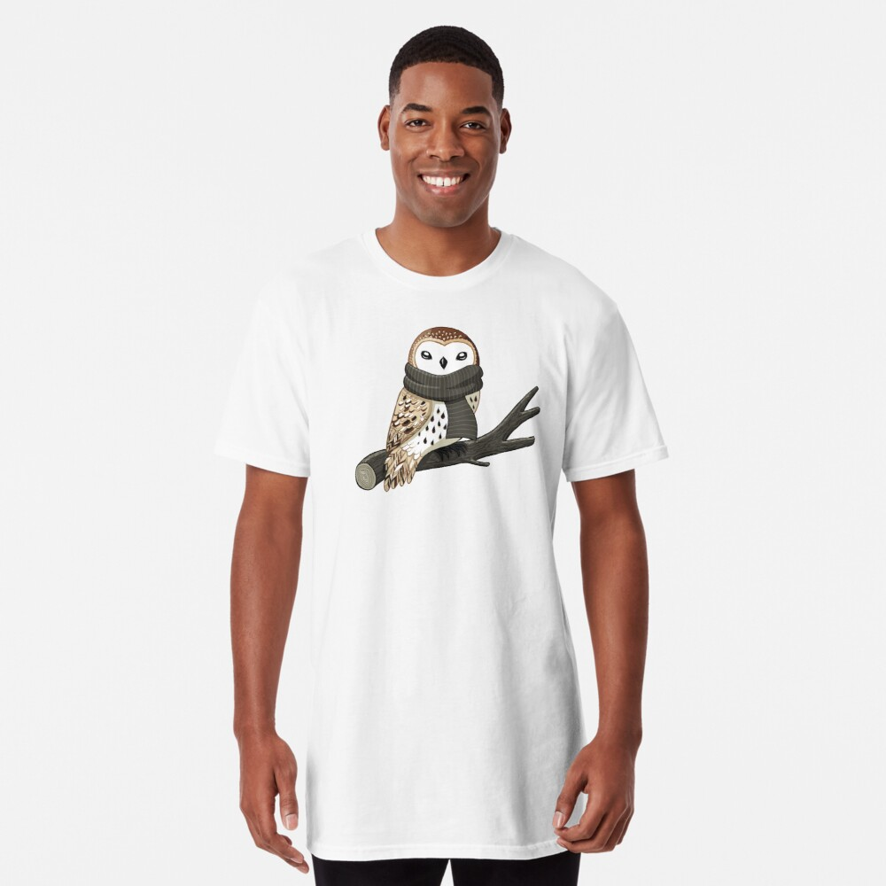 Winter Owl Long T-Shirt