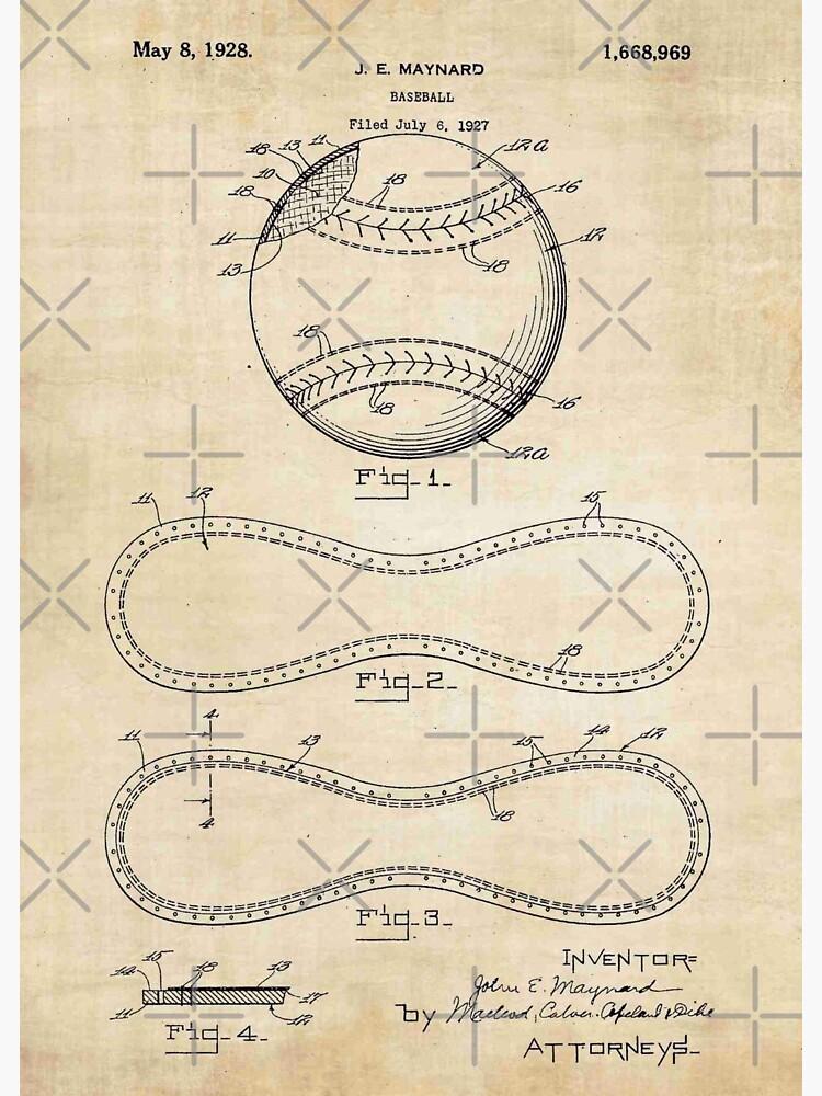 Weinlese-Baseball-Patent von VintageTeesNow