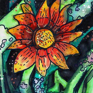 Bright Orange Flower by Kyleacharisse