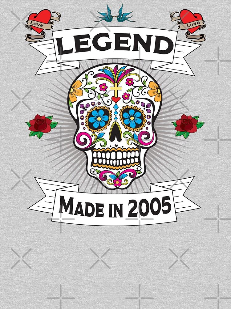 14th Birthday Design - Sugar Skull Legend Made In 2005 by kudostees
