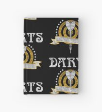 Darts Dartboard Hardcover Journal