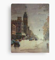 Sturt street, Ballarat at dusk Metal Print