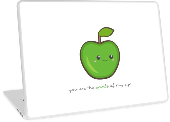 Fruit Puns - You are the apple of my eye by sandywoo