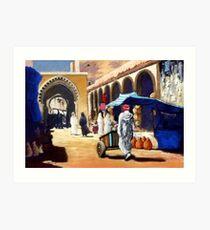 Steet market in Morocco Art Print