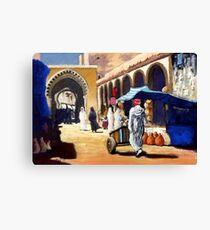 Steet market in Morocco Canvas Print