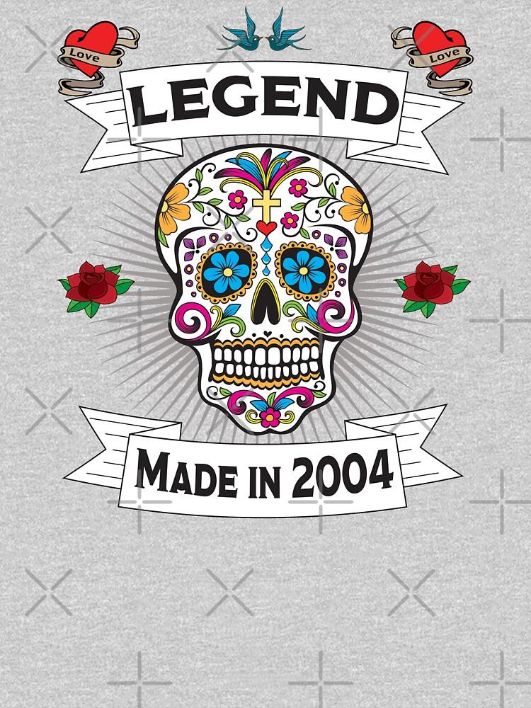 15th Birthday Design - Sugar Skull Legend Made In 2004 by kudostees