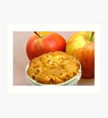 Apple Crumble Muffin  Art Print
