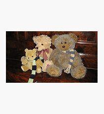 Boy & Girl Teddy with Pooh Bear. Photographic Print