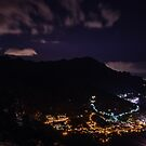 Minori at night from Ravello, Amalfi Coast, Campania, Italy by Andrew Jones