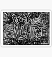 { English bulldog, French Bulldog, Boston Terrier - obey the Smooshface doodle } Sticker
