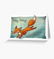 Holiday Fox Greeting Card