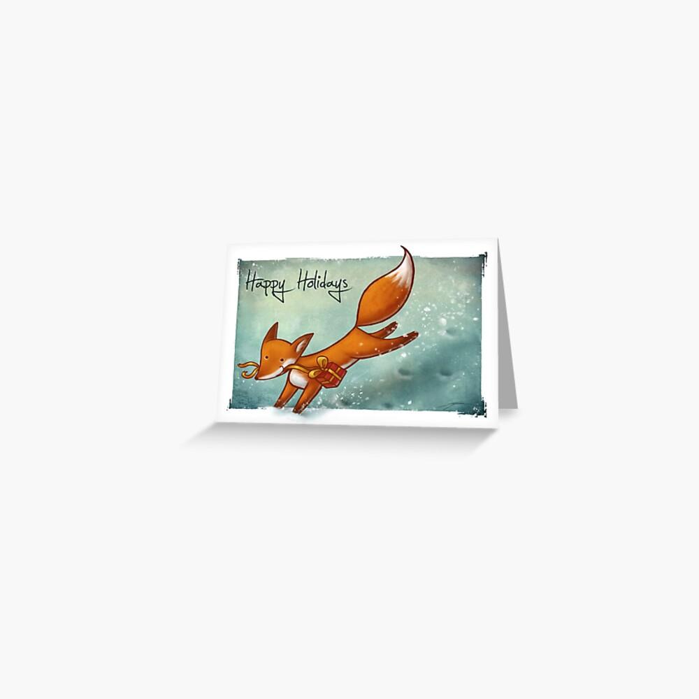 Holiday Fox Greeting Card