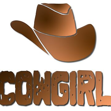 Cowgirl Word With Hat by MarkUK97